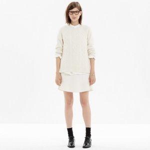 Madewell Boulevard Wool Skirt Raw Hem